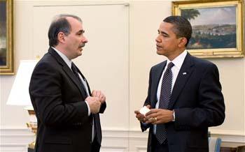 David Axelrod with Pres. Obama