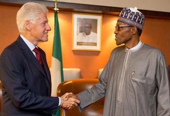 Clinton with Buhari