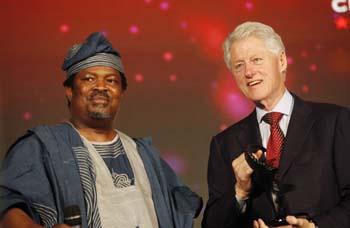 Nduka Obaigbena with former Pres. Bill Clinton
