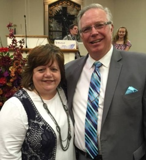 Pastor Randy Hobbs with his wife, Lisa