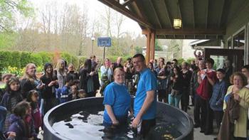 Kim Menon's baptism