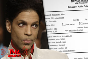 Prince died from an overdose of fentanyl