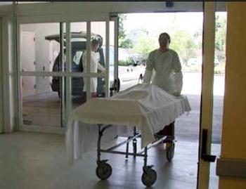 Bringing body into a morgue