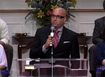 D.R. Harrison sharing testimony