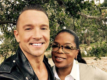 Pastor Carl Lentz with Oprah