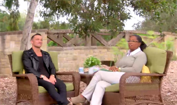 Lentz and Oprah at her sprawling estate