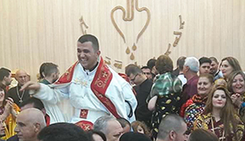 Father Momika's ordination ceremony in Erbil a few months ago