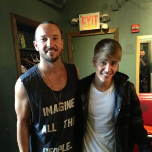 Lentz with Bieber
