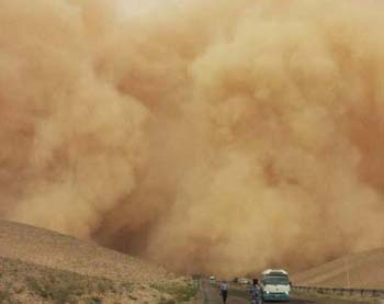 dust storm in Middle East