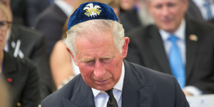 Prince Charles at Peres funeral in Jerusalem