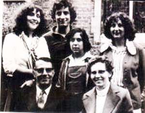 The bishop and his wife, their three daughters, and son Bahram
