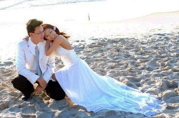 Wyn and Ton's wedding day