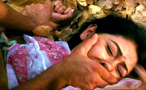 Unidentified Yazidi woman held as a slave by ISIS