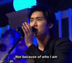 """Siwon singing """"Who am I"""" by Casting Crowns."""