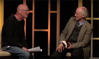 John Piper (right) interviewed by C.J. Maheney