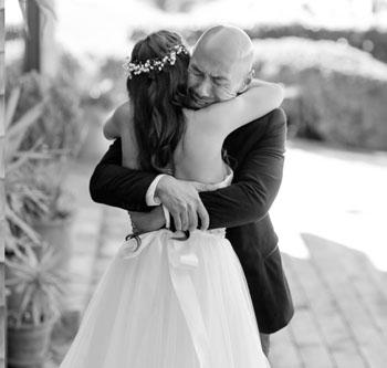 Francis hugging Rachel