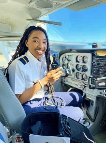 black female pilot