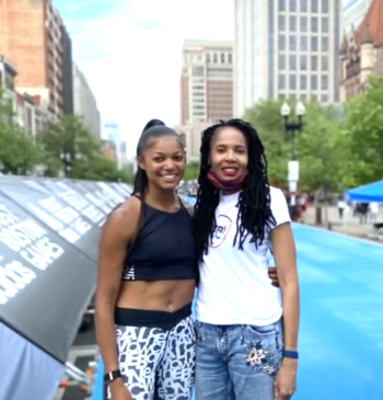 Gabrielle Thomas and her mother